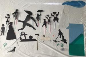 Peter Struwwel shadow puppets